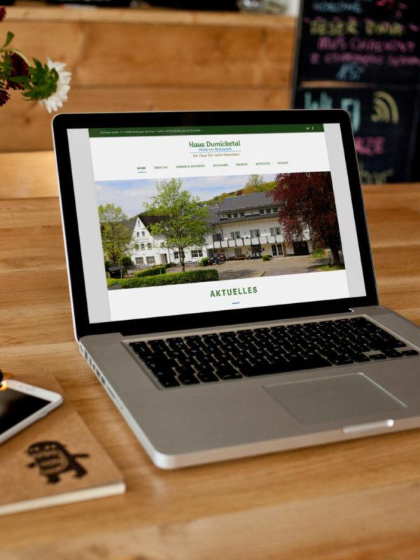 Haus Dumicketal Webseite