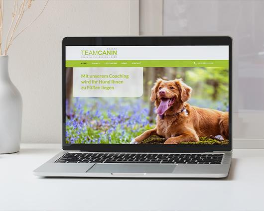 Teamcanin Hundeschule Hessen Webseite Mockup