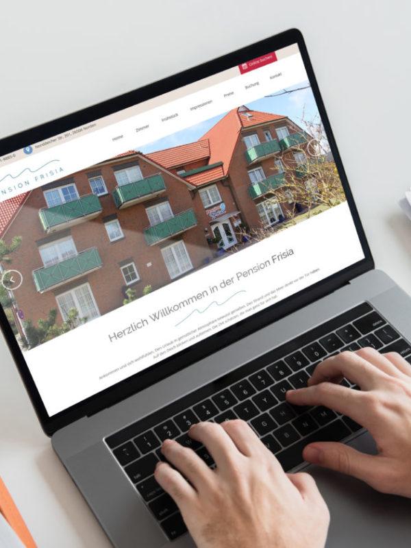 Pension Frisia Webseite