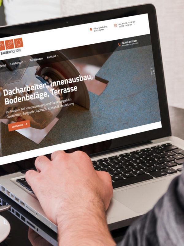 Bauservice Dennis Kohl Webseite