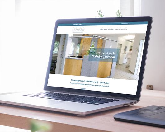 Hautarzt Klesper & Hartmann Webseite